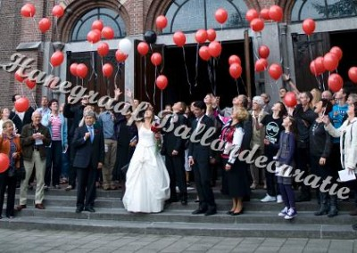 4) helium ballonnen biologisch touwtje €1,65 per stuk