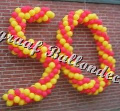 6) ballonnen cijfers 50 (ong. 1.4m) samen € 80,00