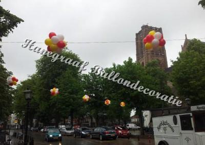 18) bollen boven de weg € 9,00 (excl. ophangen)