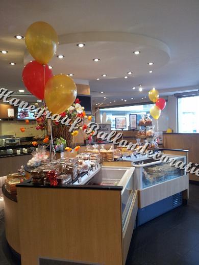 6) helium decoratie in een winkel € 6,50