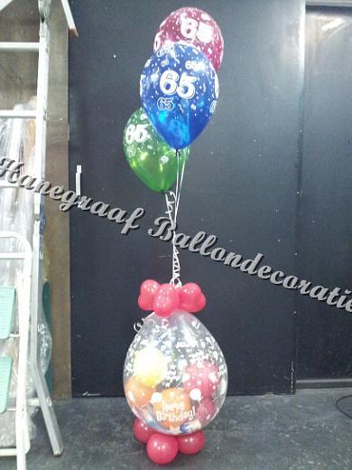 17) cadeau ballon met helium ballonnen € 22,50