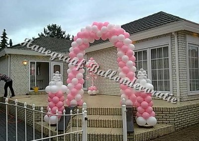 7)ballonnenboog €80,00 babyflessen €30,00