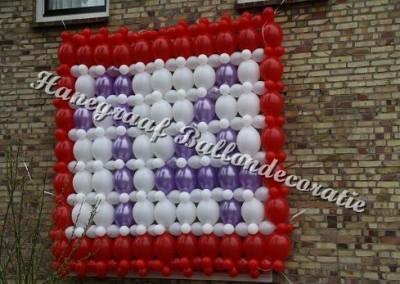 9) ballonnenwand met een cijfer € 27,50 per m3