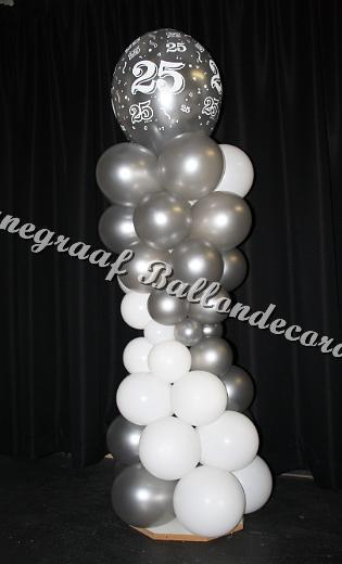 25) top ballon ong. 40 cm.  €25,00( 1.70 m. hoog)