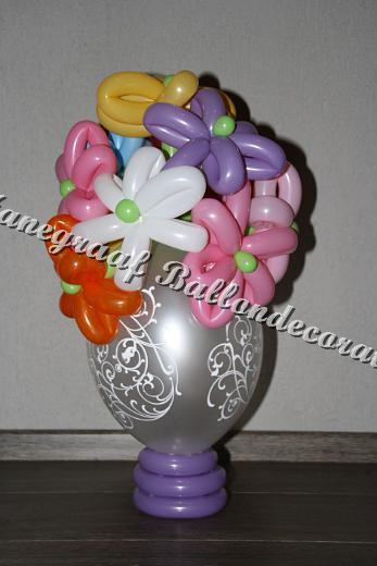 27) klein vaasje met bloemen ( op aanvraag)
