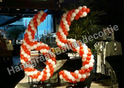 8) ballonnen cijfers 65 (ong.1.5m) samen € 90,00