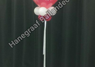 17) cijfer balloon met voet € 15,00