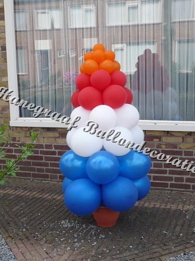 22)ballonnen boompje in de nederlandse vlag ( op aanvraag)