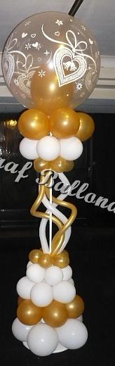 31) goud/wit fantasie pilaar € 40,00