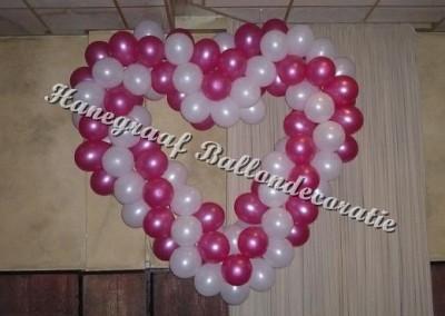 54) hart met grote ballonnen (ong.1.8m) € 65,00