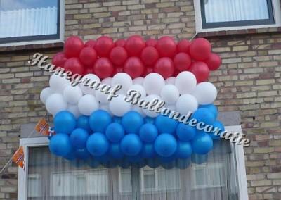 23) ballonnen nederlandse vlag ( op aanvraag)
