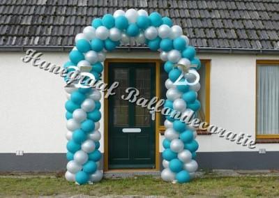 24)ballonnenboog voor enkele deur €83,00